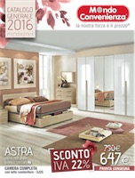 Mondo convenienza camere 2016 volantinoweb for Bricocenter catalogo 2016