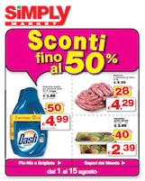 Simply market sconti fino al 50 volantinoweb for Bricocenter catalogo 2016