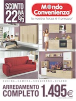 Mondo convenienza arredamento completo volantinoweb for Bricocenter catalogo 2016